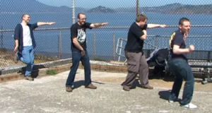 The gents dancing on Alcatraz